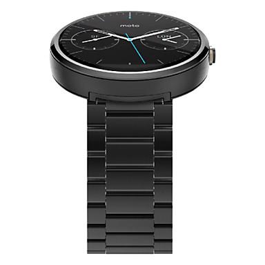 voordelige Smartwatch-accessoires-Horlogeband voor Moto 360 Motorola Butterfly Buckle Roestvrij staal Polsband