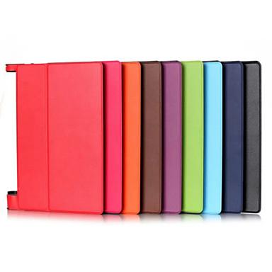 billige Tabletetuier-Etui Til Lenovo Fuldt etui / Tablet Etuier Ensfarvet Hårdt PU Læder for