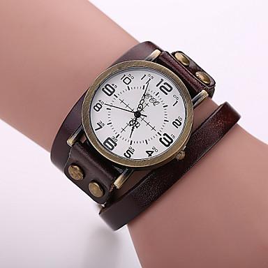 preiswerte Damen Uhren-Xu™ Damen Uhr Armbanduhr Quartz Leder Schwarz / Weiß / Blau Schlussverkauf Analog damas Charme Modisch Rot Grün Blau / Ein Jahr / Ein Jahr / SSUO LR626