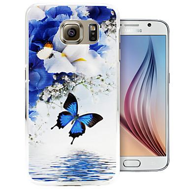 vlinder spiegel meer patroon pc Cover Case voor Samsung Galaxy S6 / S6 rand