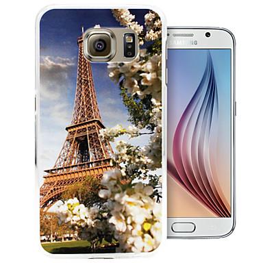 alleen mooi toren patroon pc Cover Case voor Samsung Galaxy S6 / S6 rand
