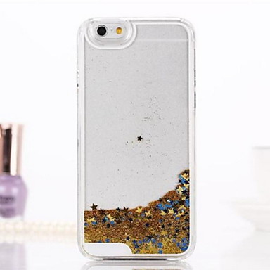 Etui Käyttötarkoitus iPhone 6 iPhone 6 Plus Virtaava neste Läpinäkyvä Takakuori Kimmeltävä Kova PC varten iPhone 6s Plus iPhone 6 Plus