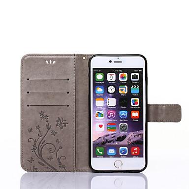Кейс для Назначение Apple iPhone X / iPhone 8 / iPhone XS Кошелек / Бумажник для карт / со стендом Чехол Бабочка Твердый Кожа PU для iPhone XS / iPhone XR / iPhone XS Max