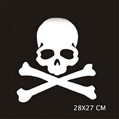 28x27cm grappig ghost rider schedels auto sticker autoraam muurstickers auto styling (1st)