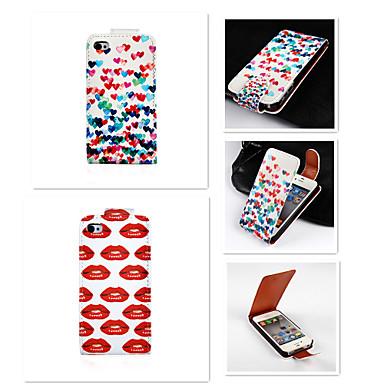 Capinha Para Capinha iPhone 5 Flip Corpo Inteiro Azulejo Rígida Couro Ecológico para iPhone SE/5s iPhone 5