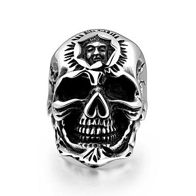 Ανδρικά Δαχτυλίδι Πανκ Ευρωπαϊκό Ανοξείδωτο Ατσάλι Κρανίο Κοσμήματα Halloween Καθημερινά Causal Αθλητικά