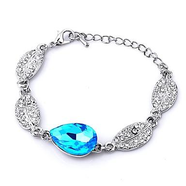 Dames Kristal Armbanden met ketting en sluiting - Roos Groen Blauw Armbanden Voor Bruiloft Feest Dagelijks Causaal
