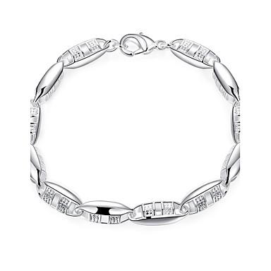 Dames Armbanden met ketting en sluiting Modieus Europees Koper Verzilverd Zilver Sieraden Voor Feest Dagelijks Causaal Sport Kerstcadeaus