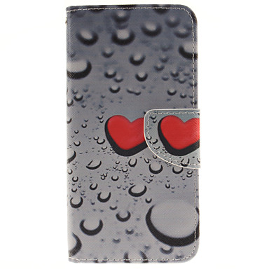 Voor Samsung Galaxy S7 Edge Portemonnee / Kaarthouder / met standaard / Flip hoesje Volledige behuizing hoesje Hart PU-leer SamsungS7