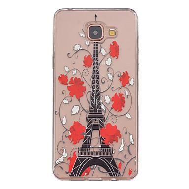 Para Samsung Galaxy Capinhas Transparente / Estampada Capinha Capa Traseira Capinha Torre Eiffel TPU Samsung A5(2016) / A3(2016)