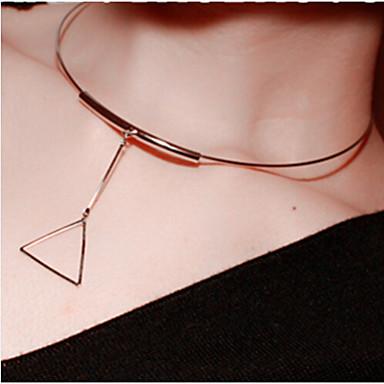 Dames Cirkelvorm Eenvoudig Klassiek modieus Casual / Sporty Rock Eenvoudige Stijl Europees Hangertjes ketting Legering Hangertjes ketting