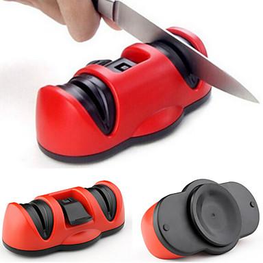 2em1 2 apontadores grosseiro cerâmica&aço de tungstênio apontador fina faca com ventosa seguro para a ferramenta faca tesoura