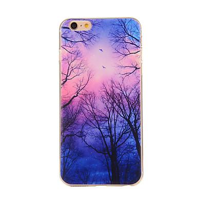Para Capinha iPhone 6 / Capinha iPhone 6 Plus Estampada Capinha Capa Traseira Capinha Árvore Macia TPU iPhone 6s Plus/6 Plus / iPhone 6s/6