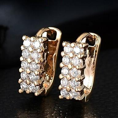Oorknopjes Ring oorbellen Zirkonia Legering Zilver Gouden Sieraden Voor Bruiloft Feest Dagelijks Causaal Sport 1 Set