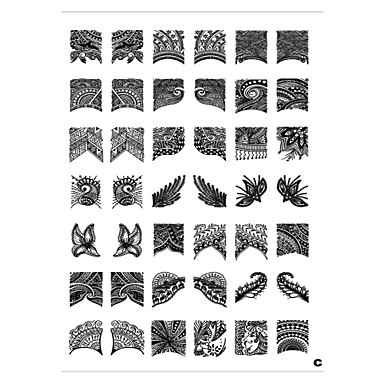 42 pattern placa nail art carimbo de carimbar modelo de imagem