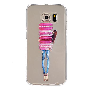 Voor Samsung Galaxy hoesje Hoesje cover Reliëfopdruk Achterkantje hoesje Cartoon TPU voor Samsung Galaxy S6 edge plus S6 edge S6 S5