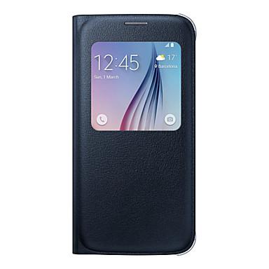 hoesje Voor Samsung Galaxy Samsung Galaxy S7 Edge met venster Flip Volledig hoesje Effen Kleur Zacht PU-nahka voor S8 Plus S8 S7 edge S7