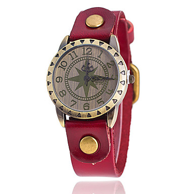 Mulheres Relógio de Moda Relógio Casual Quartzo Couro Banda Preta Branco Azul Vermelho Laranja Marrom Verde Amarelo