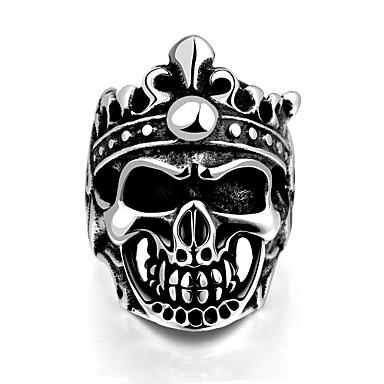 Pierscionek Stal nierdzewna Skull shape Klasyczny Silver Biżuteria Halloween Codzienny Casual Sport 1szt