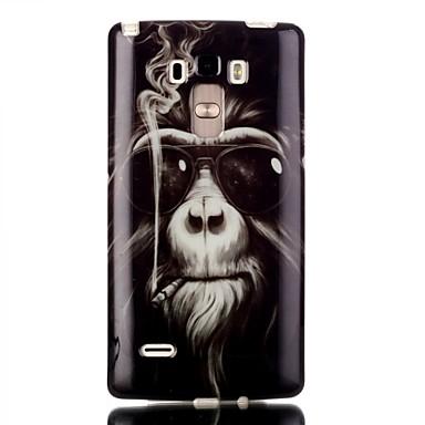 Para Capinha LG Case Tampa Transparente Estampada Capa Traseira Capinha Animal Macia PUT para LG LG G4 Stylus / LS770