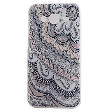 Mert Samsung Galaxy tok Minta Case Hátlap Case Mandala Puha TPU Samsung J7 (2016) / J5 (2016) / J5