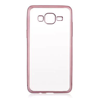 Para Samsung Galaxy Capinhas Cromado / Transparente Capinha Capa Traseira Capinha Cor Única TPU Samsung J7 / J5 / Grand Prime