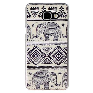 Voor Samsung Galaxy hoesje Patroon hoesje Achterkantje hoesje Olifant TPU Samsung A7(2016) / A5(2016) / A3(2016) / A9