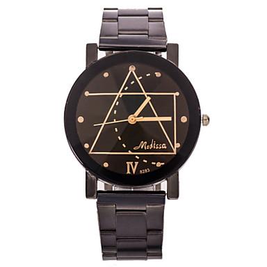 Heren Polshorloge Unieke creatieve horloge Vrijetijdshorloge Kwarts Roestvrij staal Band Zwart