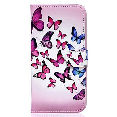 Voor Samsung Galaxy hoesje Portemonnee / Kaarthouder / met standaard / Flip hoesje Volledige behuizing hoesje Vlinder PU-leer SamsungS7 /