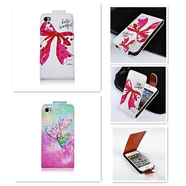 Capinha Para iPhone 4/4S Apple Capa Proteção Completa Rígida PU Leather para iPhone 4s / 4