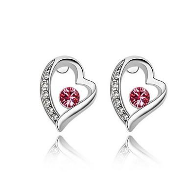 Dames Oorknopjes Ring oorbellen Hart Kostuum juwelen Imitatieparel Hartvorm Sieraden Voor Bruiloft Feest Dagelijks Causaal