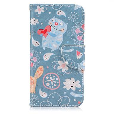 Para Samsung Galaxy S7 Edge Carteira / Porta-Cartão / Com Suporte / Flip Capinha Corpo Inteiro Capinha Gato Couro PU Samsung S7 edge / S7