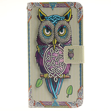 Para Samsung Galaxy Capinhas Porta-Cartão / Com Suporte / Flip / Magnética / Estampada Capinha Corpo Inteiro Capinha Coruja Couro PU
