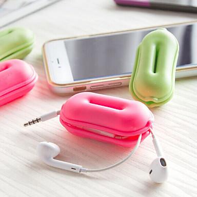 Aufgeblasene Matte Kopfhörerhalter / Cable Winder Kulturtasche für Kulturtasche Gummi