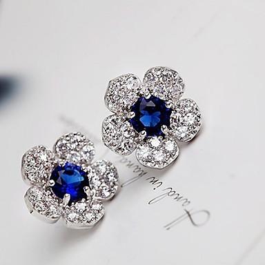 Feminino Brincos Curtos Brincos Compridos Moda Europeu bijuterias Zircônia Cubica Pedaço de Platina Liga Jóias Para