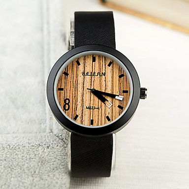 זול שעוני גברים-בגדי ריקוד גברים שעון יד קווארץ עור שחור / צהוב / Beige מכירה חמה אנלוגי קסם קלסי - 6# 7# 8# / מתכת אל חלד