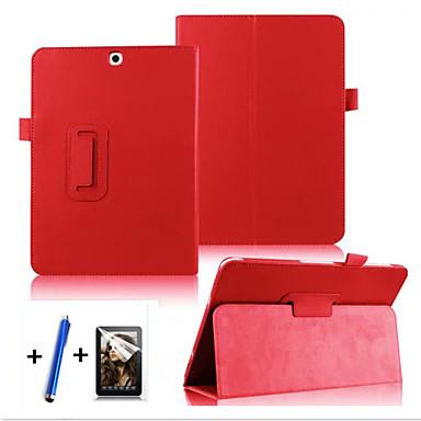Capinha Para Samsung Galaxy Tab S2 9,7 Com Suporte Flip Rotação 360° Capa Proteção Completa Côr Sólida Rígida PU Leather para
