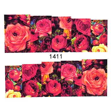30 Adesivos para Manicure Artística Transferência de água adesivo Flor Adorável maquiagem Cosméticos Designs para Manicure
