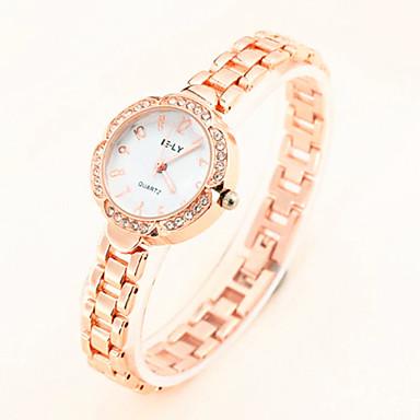 Dames Modieus horloge Armbandhorloge Kwarts Legering Band Elegante horloges Goud Goud Rose