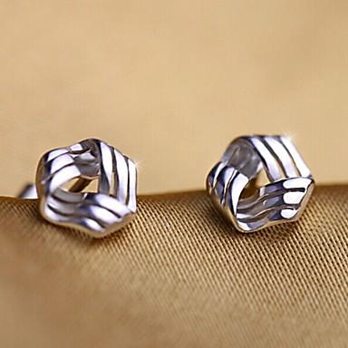 Oorknopjes Sterling zilver Zirkonia Zilver Sieraden Voor Bruiloft Feest Dagelijks Causaal Sport 1 stuks