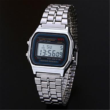 billige Herreure-Herre Kjoleur Armbåndsur Digital Watch Digital Rustfrit stål Sølv / Guld Afslappet Ur Digital Vedhæng - Sølv Gylden