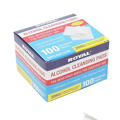 200pcs toalhetes pré-humedecidos para uso diário / pré-humedecido de álcool de limpeza almofadas 70% embebida em álcool isopropílico