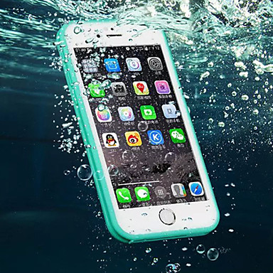 voordelige iPhone-hoesjes-hoesje Voor Apple iPhone 6s Plus / iPhone 6s / iPhone 6 Plus Waterbestendig Achterkant Effen Zacht TPU