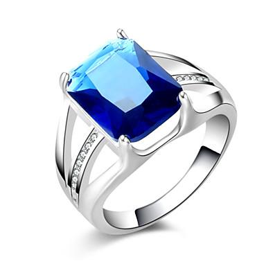Anéis Pesta / Diário / Casual Jóias Prata Chapeada Feminino Anéis Grossos 1pç,8 Prateado