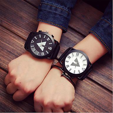 Homens Mulheres Casal Relógio de Moda Relógio Esportivo Quartzo Relógio Casual Silicone Banda Amuleto Cores Múltiplas