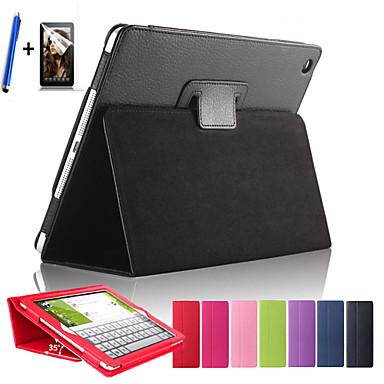 magnético sono virar capa de couro lichia para ipad tablet cobertura aérea com protetor de tela grátis + caneta