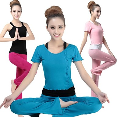Ioga Conjuntos de Roupas Respirável Suavidade Com Elástico Moda Esportiva Mulheres Ioga Pilates