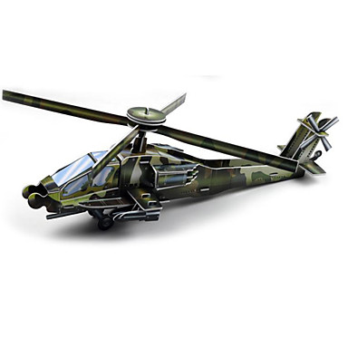 Quebra-Cabeças 3D Maquetes de Papel Helicóptero Diversão Papel Clássico Helicóptero Dom