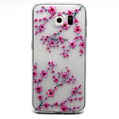 Case For Samsung Galaxy Samsung Galaxy S7 Edge Transparent Embossed Back Cover Flower TPU for S7 edge S7