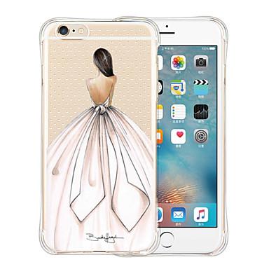 케이스 제품 Apple iPhone 6 iPhone 6 Plus 충격방지 투명 패턴 뒷면 커버 섹시 레이디 소프트 실리콘 용 iPhone 6s Plus iPhone 6s iPhone 6 Plus iPhone 6